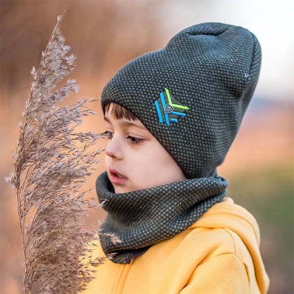 Boy's hat with tube Gazda