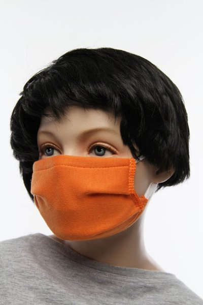 CHILDREN'S reusable cotton mask, orange