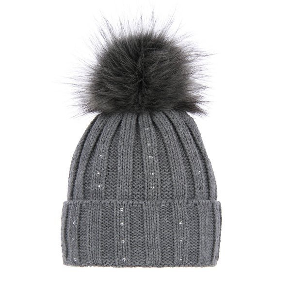 Winter hat with pompom Magda