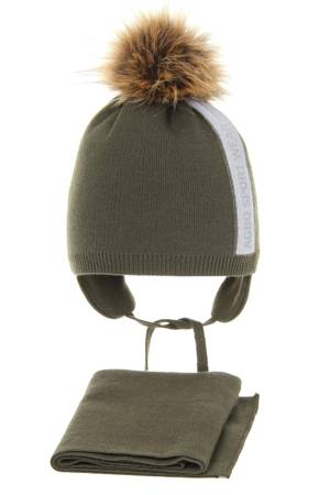 Winter hat for boy with pompom Leny